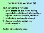 persoonlijke verkoop 2