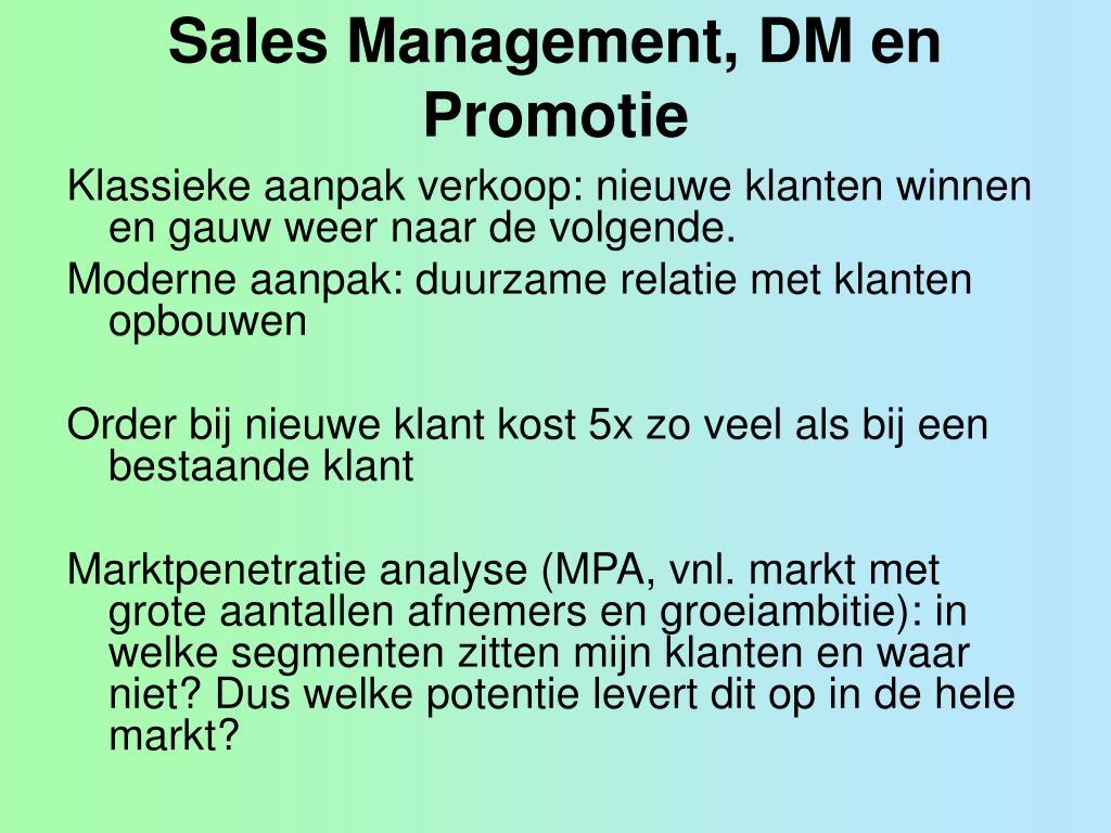sales management dm en promotie l.