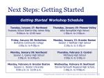 next steps getting started45