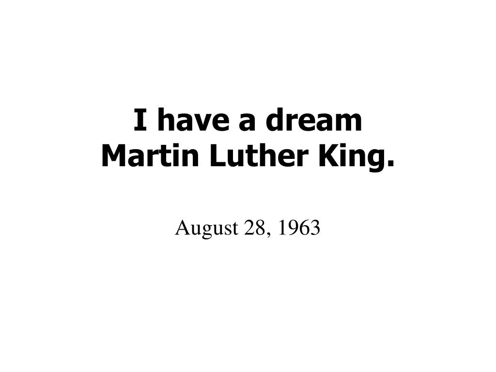 i have a dream martin luther king l.