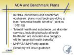 aca and benchmark plans