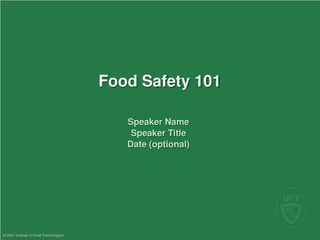 food safety 101 l.