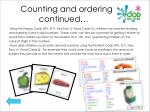 counting and ordering continued