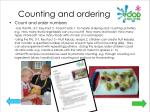 counting and ordering
