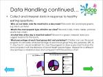 data handling continued