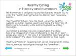 healthy eating in literacy and numeracy