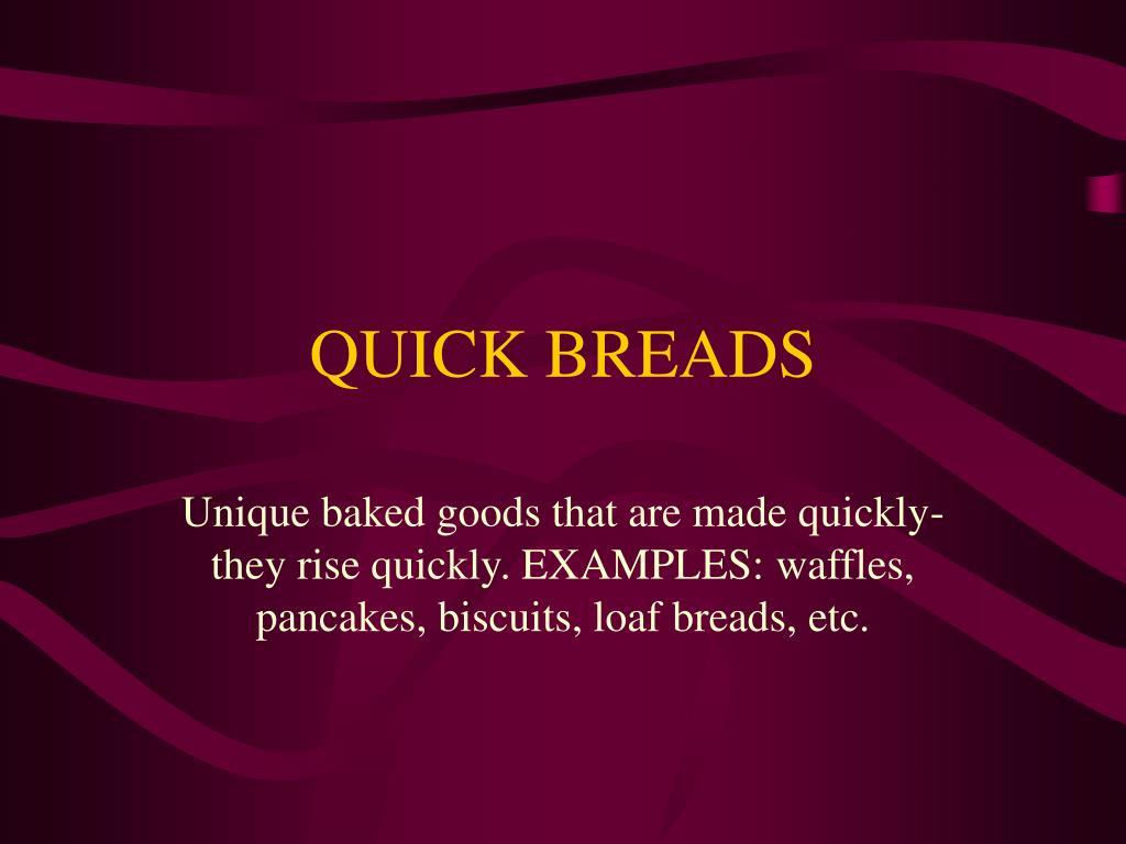 quick breads l.