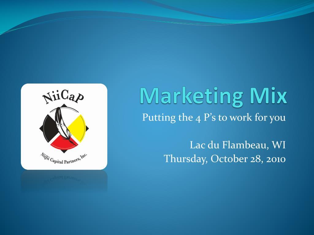 marketing mix l.
