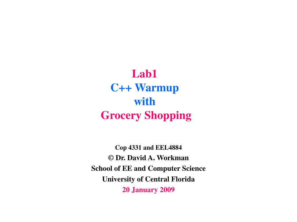 lab1 c warmup with grocery shopping l.