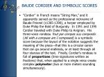 baude cordier and symbolic scores