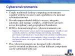 cyberenvironments