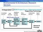 environmental ci architecture research services