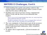waters ci challenges cont d