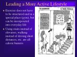 leading a more active lifestyle