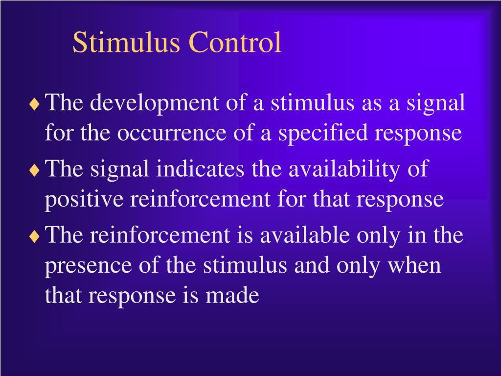 stimulus control l.