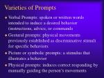 varieties of prompts