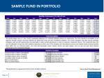 sample fund in portfolio