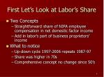 first let s look at labor s share