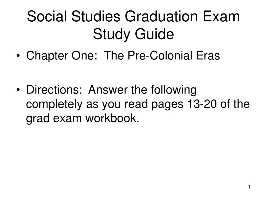 social studies graduation exam study guide l.