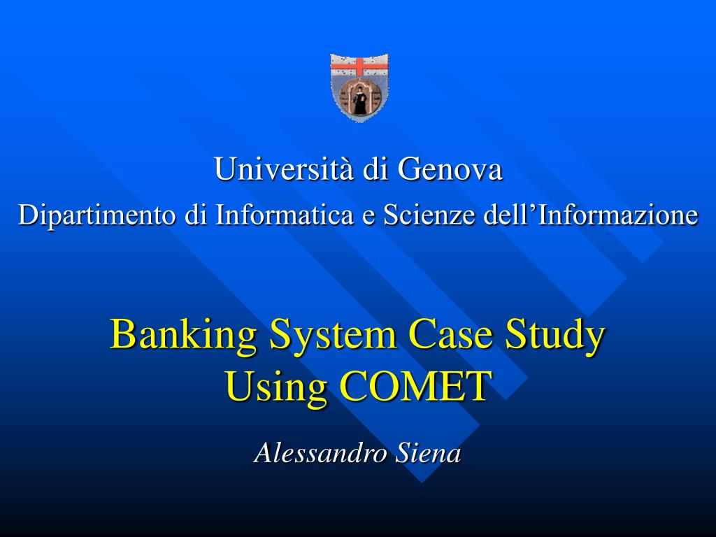 banking system case study using comet l.