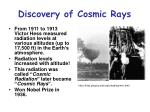 discovery of cosmic rays7