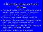 cg and other glomerular lesions m haas