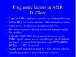 prognostic factors in amr d glotz