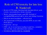 role of cni toxicity for late loss b nankivell