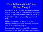 total inflammation ti score michael mengel