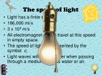 the speed of light