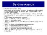 daytime agenda
