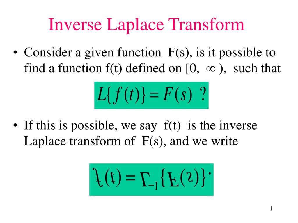 inverse laplace transform l.