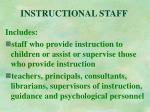 instructional staff