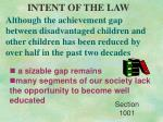 intent of the law