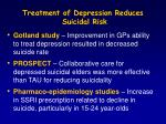 treatment of depression reduces suicidal risk