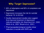 why target depression