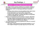 key findings i
