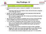 key findings iv