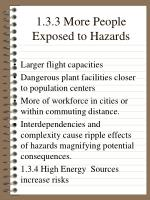 1 3 3 more people exposed to hazards