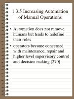 1 3 5 increasing automation of manual operations