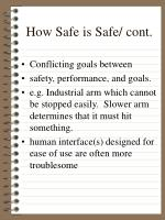 how safe is safe cont