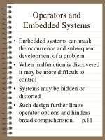 operators and embedded systems