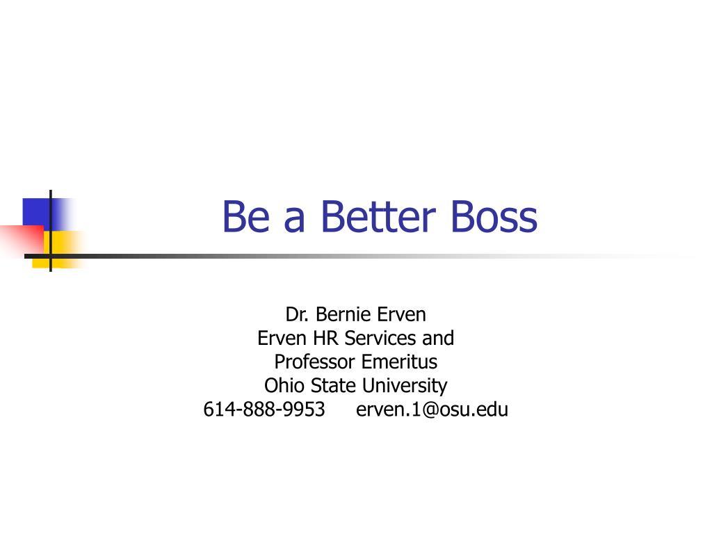 be a better boss l.