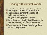 linking with cultural worlds