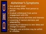 alzheimer s symptoms