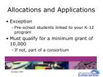 allocations and applications13