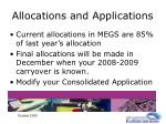 allocations and applications14