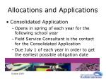 allocations and applications15