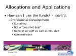 allocations and applications18