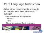 core language instruction28